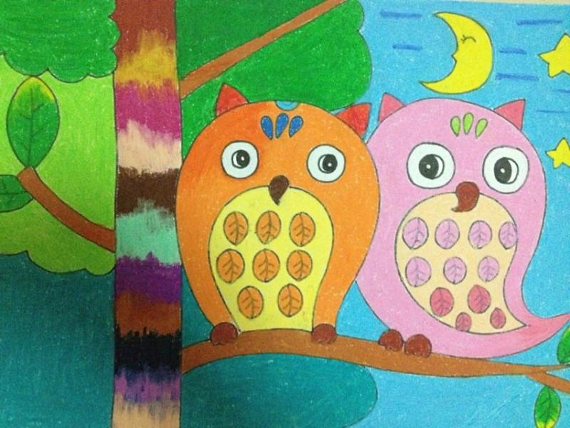 儿童水粉画范画