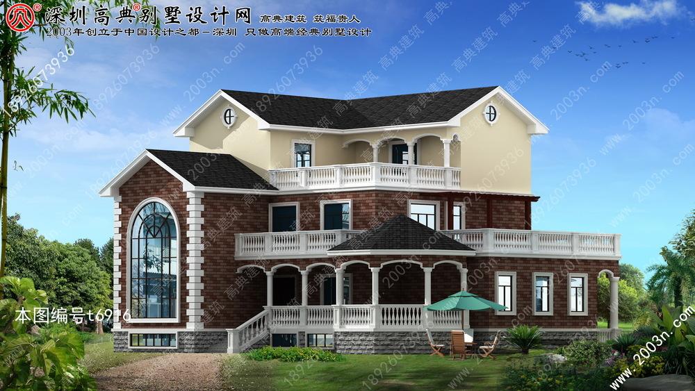 三层楼房设计图首层251平方米