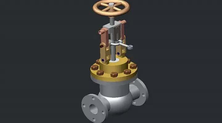 creo速闭阀模型下载图片