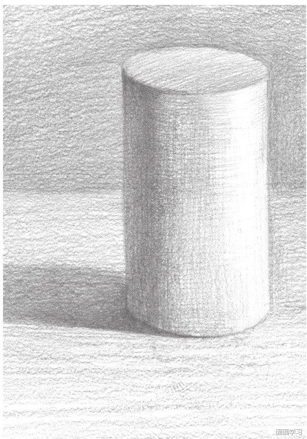 如何学素描 素描圆柱体的绘画教程图片