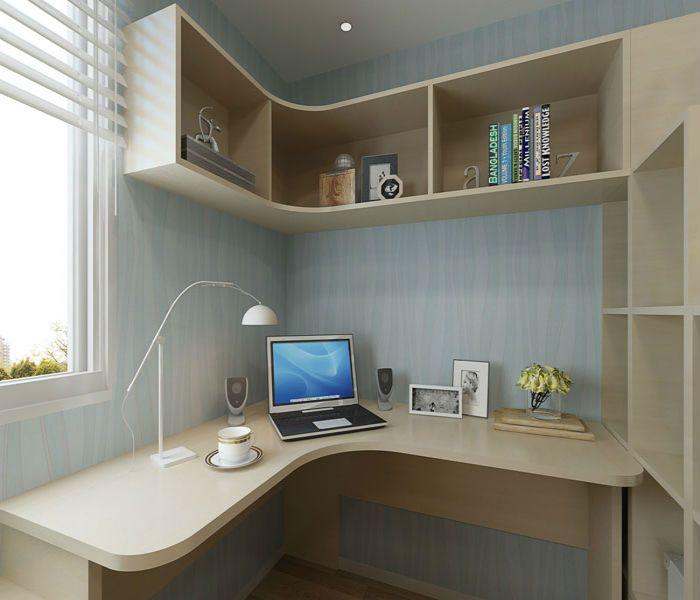西安家装书桌书柜组合效果图,装修界的完美搭配!图片