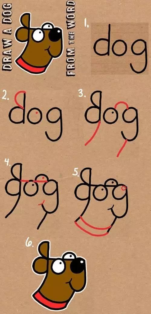 儿童简笔画 单词变身动物人物,实在太有趣