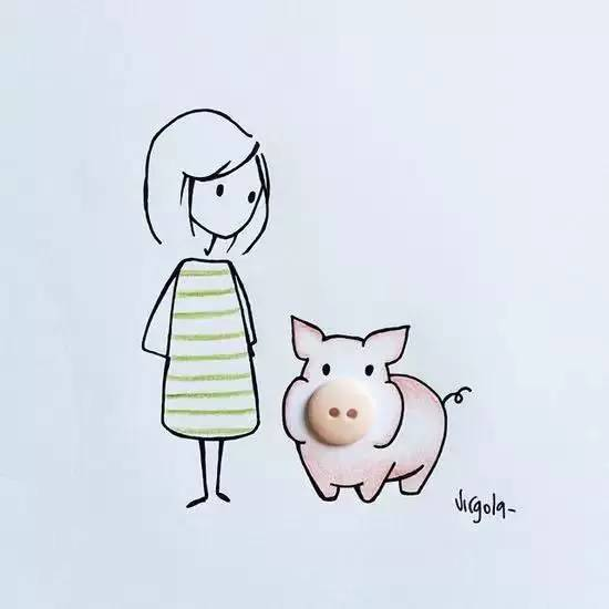 文艺女青年卡通头像_最酷文艺女青年的儿童画 创意
