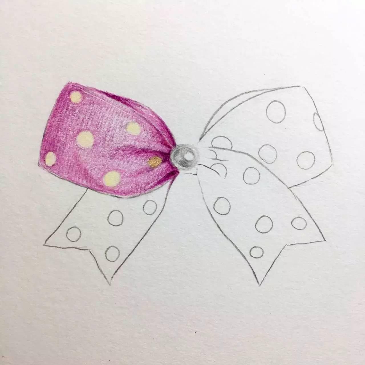 手绘简单小物件 蝴蝶结