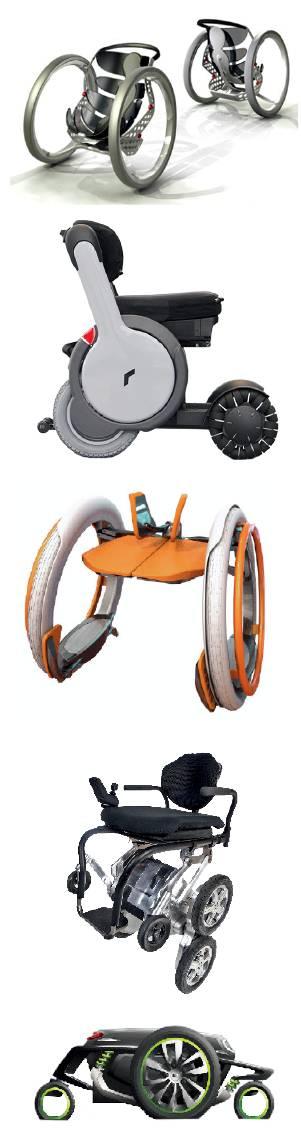whill(上2),ibot(上4)等形形色色的高科技轮椅,不乏设计师大胆创新图片