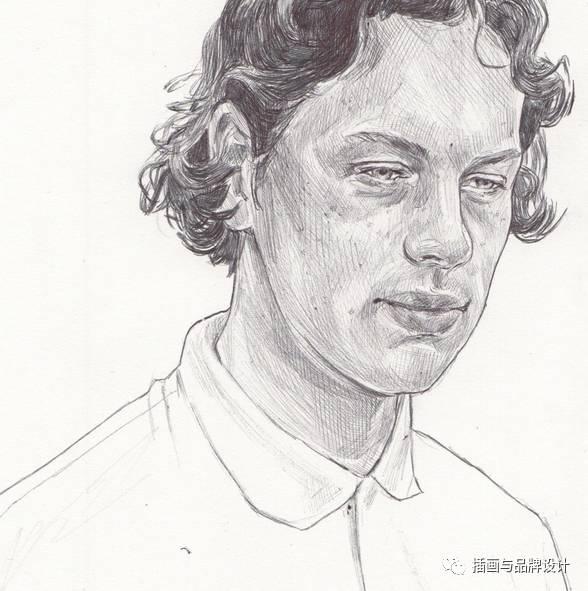 i&b手绘丨铅笔手绘人像,黑白青春速写,我又重新拾起了