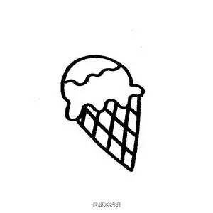 简笔画素材 冰淇淋的九种画法