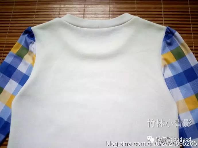 的儿童拼色印花T恤 附参考裁剪图