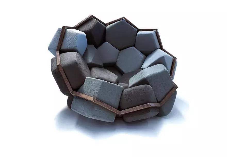 石英晶体结构,quartz armchair由许多的类似于石头的海绵几何体构成