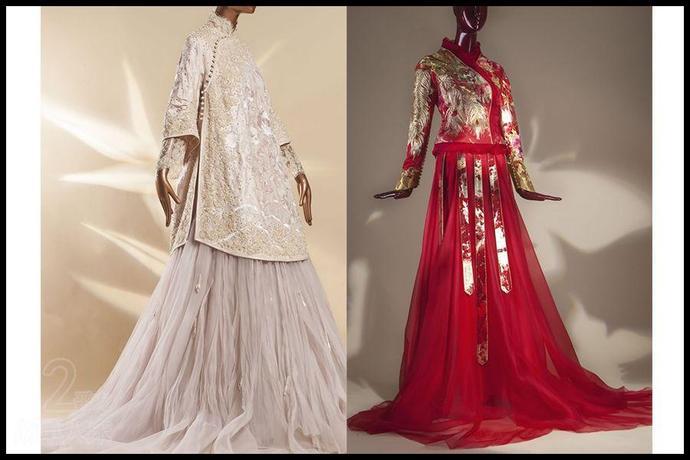 每个中国女人都想穿的中式嫁衣,色彩艳丽刺绣精美图片