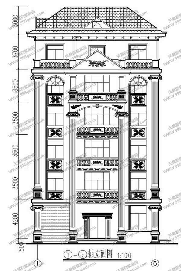 13x14.4米6层别墅设计图,农村自建房也能高大上!