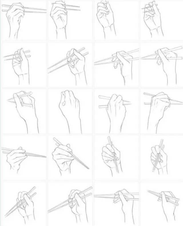手绘素材分享 | 一组手部动作素材分享