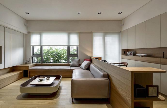 沙发靠背吧台效果图 沙发靠背吧台设计