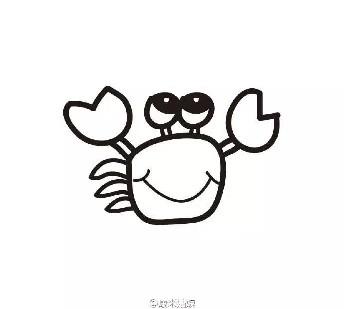 简笔画 教你几笔画一只大闸蟹