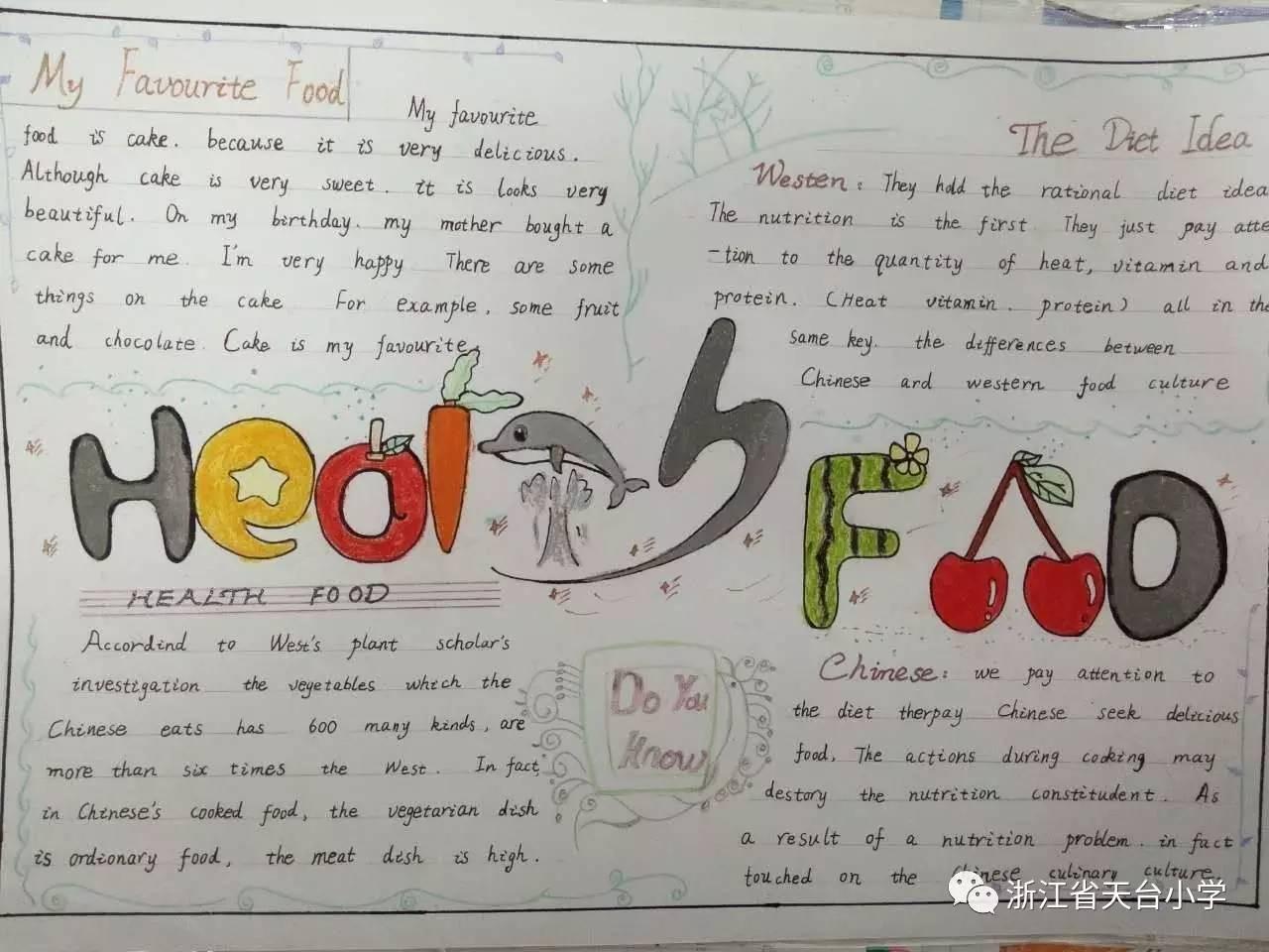 节系列活动之四年级英语手抄报 五六年级英语海报评比活动