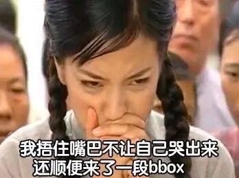 我捂住嘴巴不让自己哭出来 顺便来了一段bbox表情包