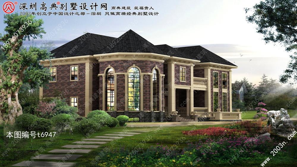 四间两层楼房设计自建别墅设计