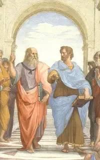 雅典学派的柏拉图和亚里士多德