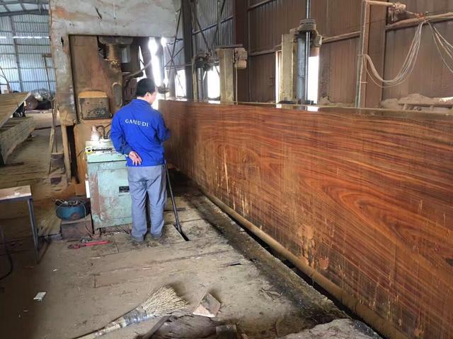 17万一块的实木大板?曝光工厂内实木大板的制作!