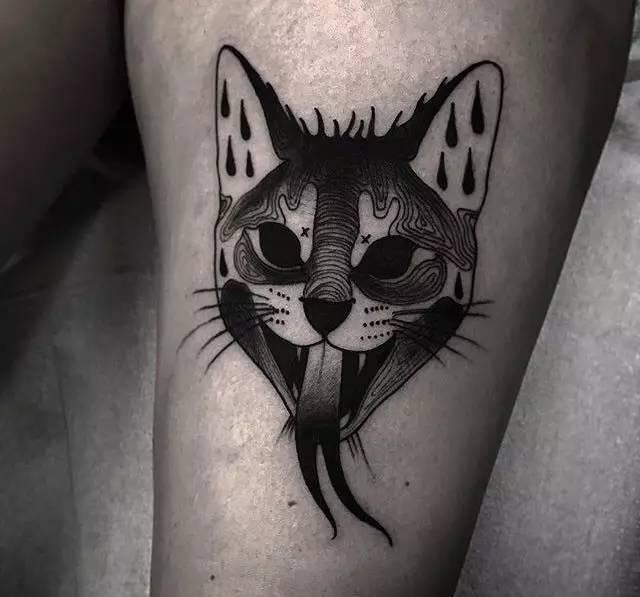 "纹身师 | andrew wilson""暗黑oldschool 暗黑风黑灰纹身""图片"