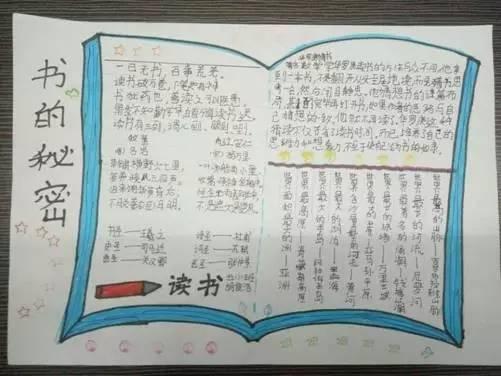 黄冈小学第七届语文月活动(二):手抄报推荐最具魅力图书图片