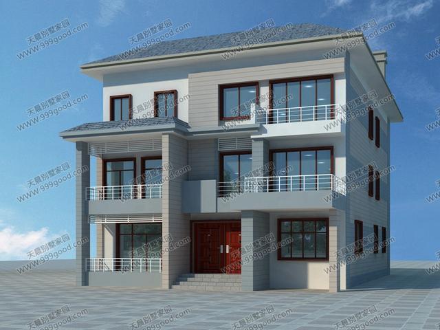 农村别墅设计图,另类的兄弟房,13.6X14.8米