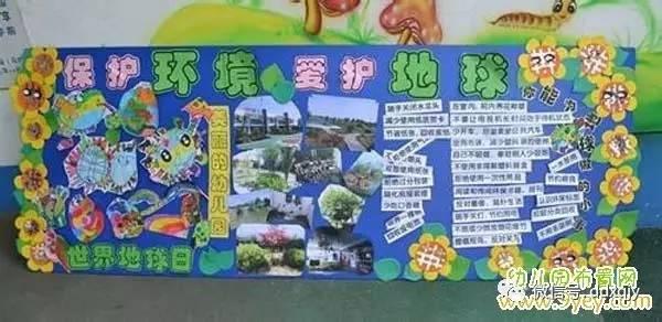 4月22日地球日幼儿园主题墙饰看这里