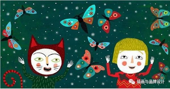儿童抽象画图片大全-I B插画丨又萌温馨的儿童插画,很棒的表现力 好