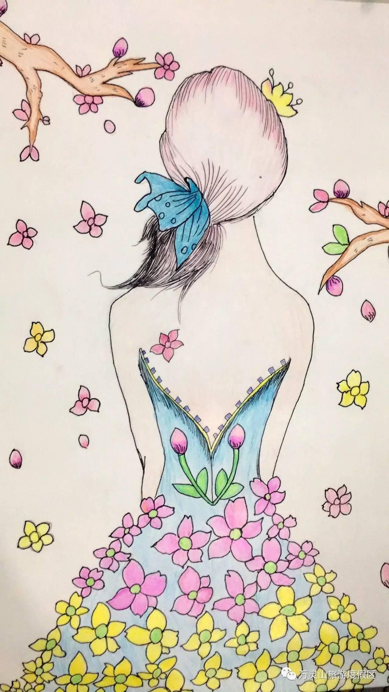 美丽的春天儿童画简单又漂亮 - 5068儿童网