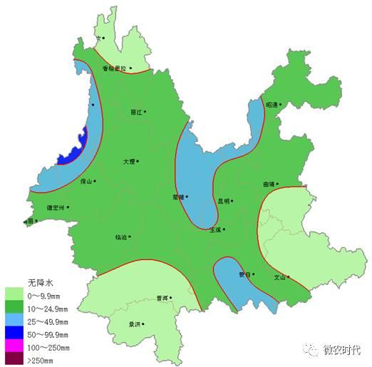 天云南及全国的天气预报