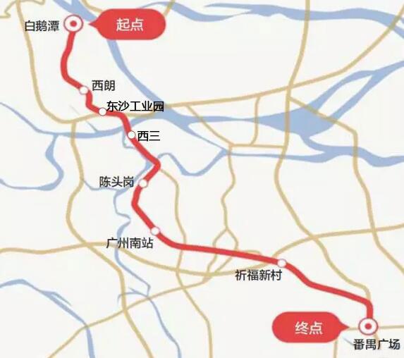 广州地铁22号线线路图-广州又添10条地铁 最全116个站点沿线盘早知道图片