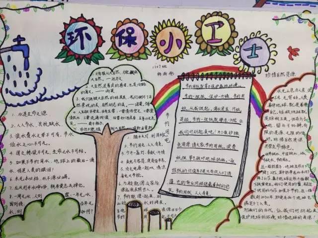 爱护环境 金海小学 我是环保小卫士 手抄报评比活动圆满结束图片