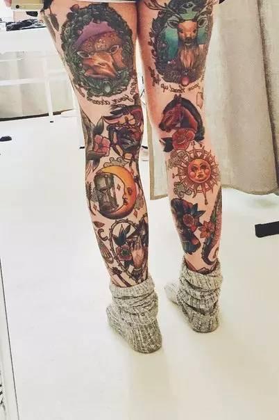 花腿,花臂纹身素材都有了,你敢挑战吗?图片