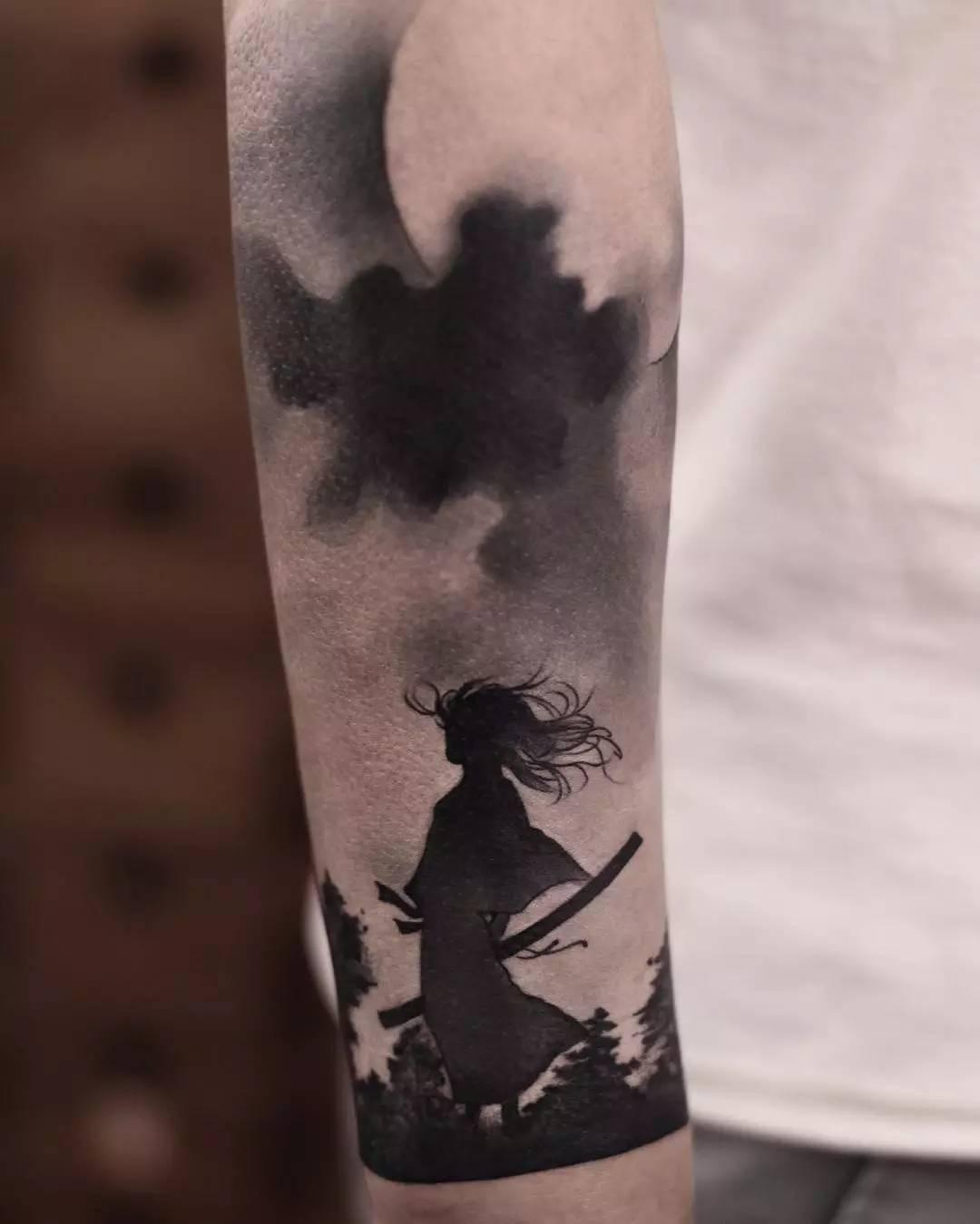 水墨纹身,带你走进中国风的纹身世界