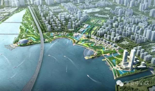 宝安中心区规划图.