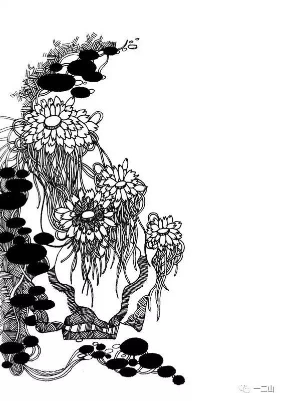 素材丨黑白植物类装饰画