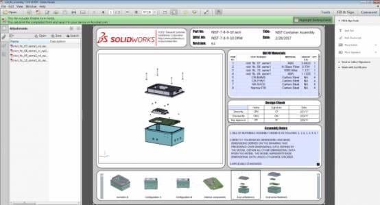 3D PDF样本 国家标准与技术研究所 NIST 测试装配体