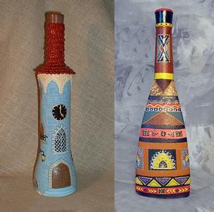 【手工篇】幼儿园手工作品绚丽多彩的瓶子画,太美了!