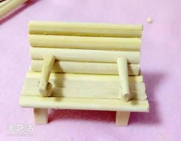 一次性筷子手工制作带扶手椅子