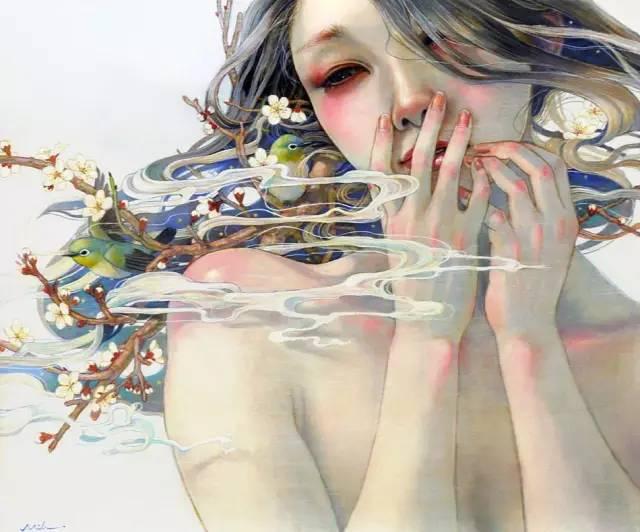 岛国女画师笔下的美女,美丽 细腻 忧伤 情欲 邪魅