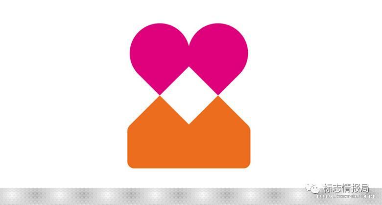 百合网发布心LOGO,一对心心相印的两个人图片
