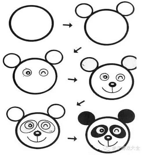 动物简笔画 鸡熊猫等画法教程 陆地动物 千千简笔画