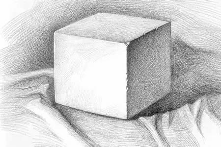 素描几何体画法,看这个试试图片