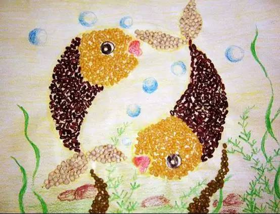 幼儿园手工 : 豆子画