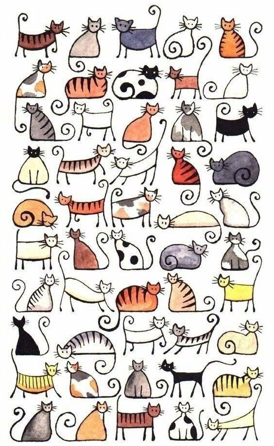 简笔画教程 小猫咪绘制大全,喜欢喵星人快快收了吧