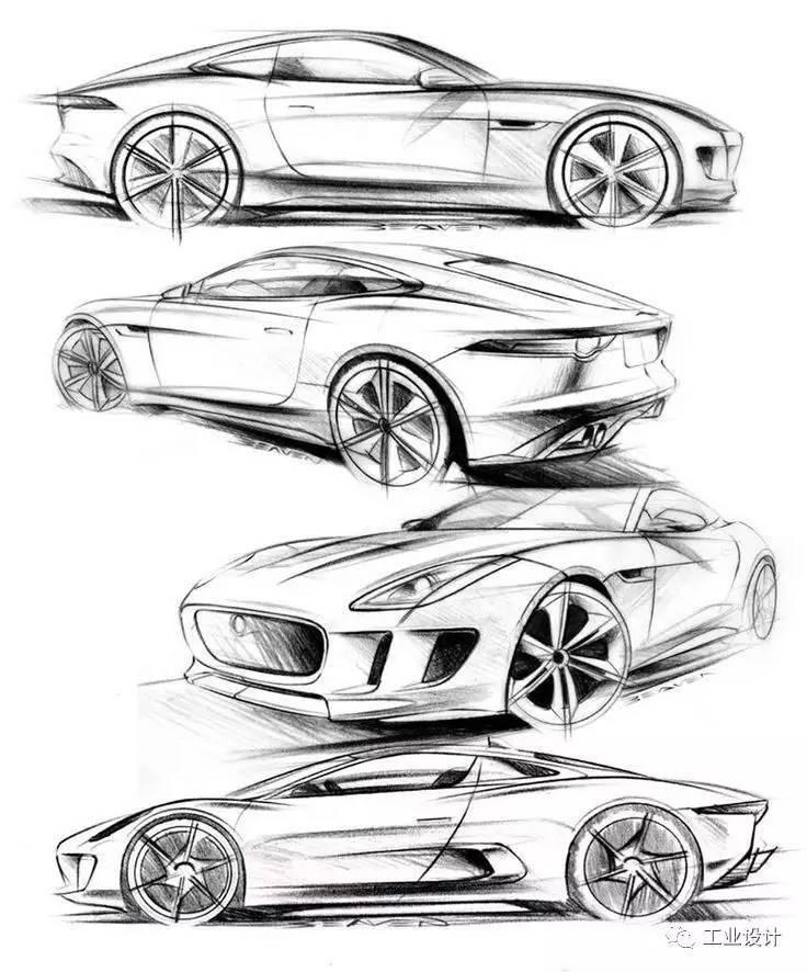 如何学会画帅气的汽车手绘图图片