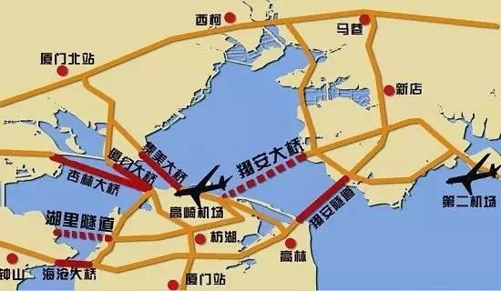 翔安大桥规划图