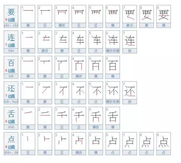 开的笔画顺序-一年级下册生字笔顺表,为孩子收藏着