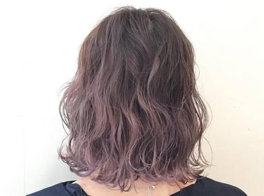 辉绛紫色渐变染发-短发和这些渐变染发颜色更配图片