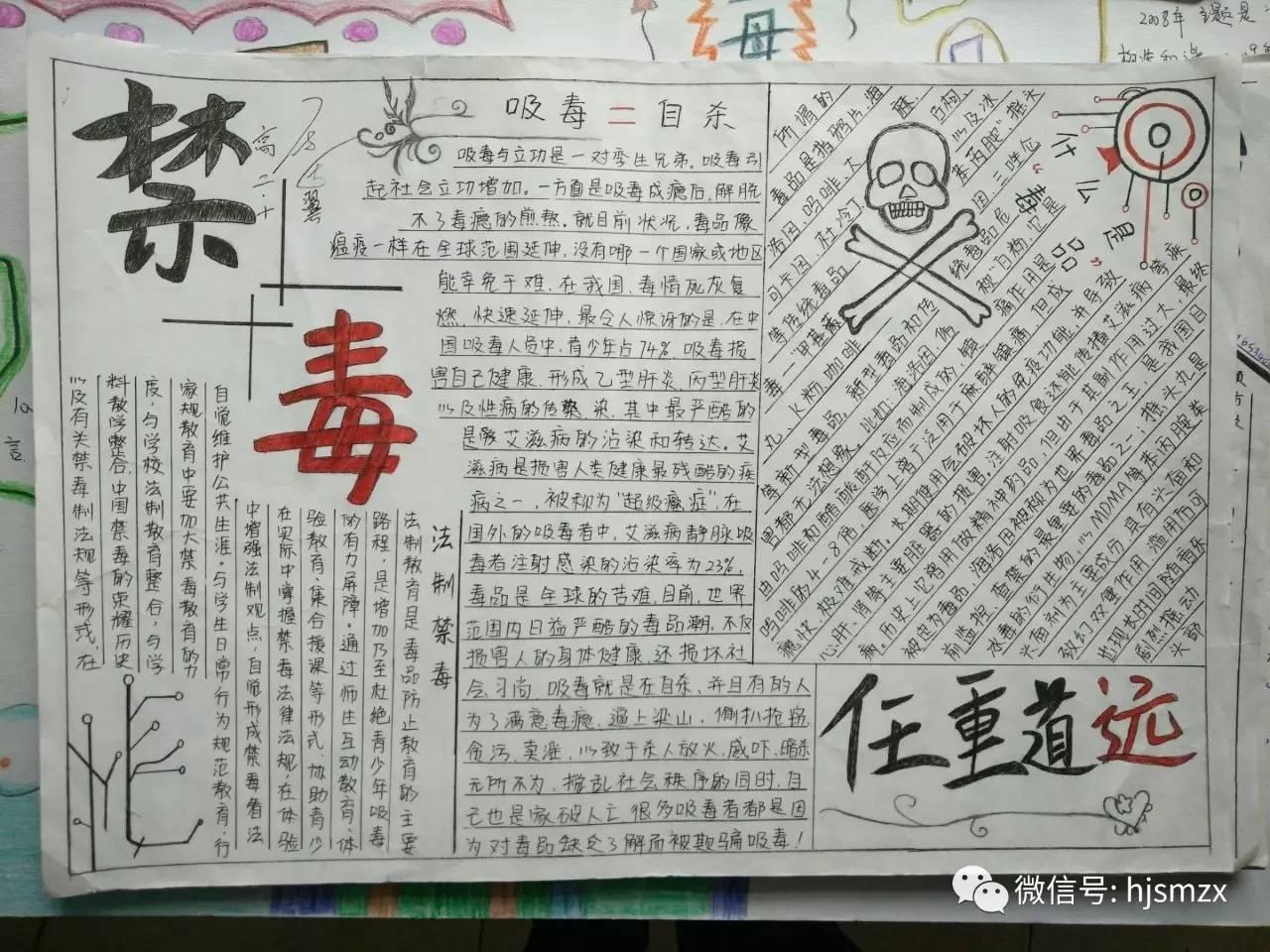 【健康校园】少岷职校举行禁毒手抄报比赛